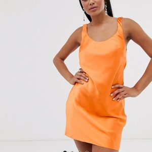 ASOS Scoop neck mini satin slip dress